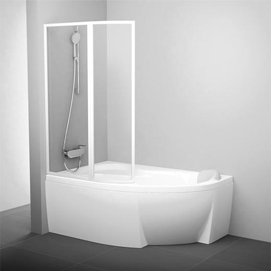 Шторка для ванны Ravak VSK2 Rosa 170 L 76LB0100Z1 (Левая, стекло прозрачное)