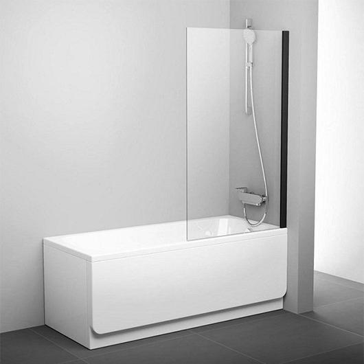 Шторка для ванны Ravak Pivot PVS1-80 79840300Z1 (Профиль черный)