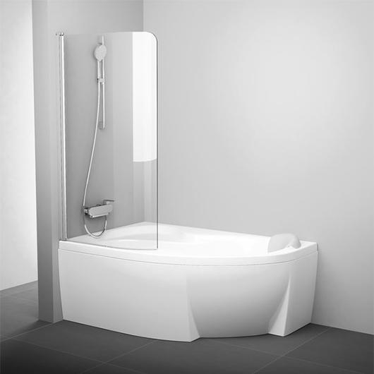 Шторка для ванны Ravak CVSK1 160/170 L 7QLS0U00Y1 (Левая, профиль сатин)