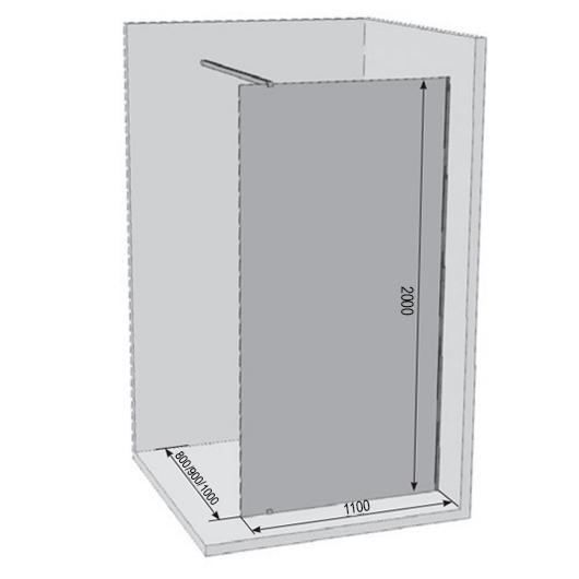 Душевая перегородка Ravak Walk-In Wall GW9WD0C00Z1 (1100х2000 мм)