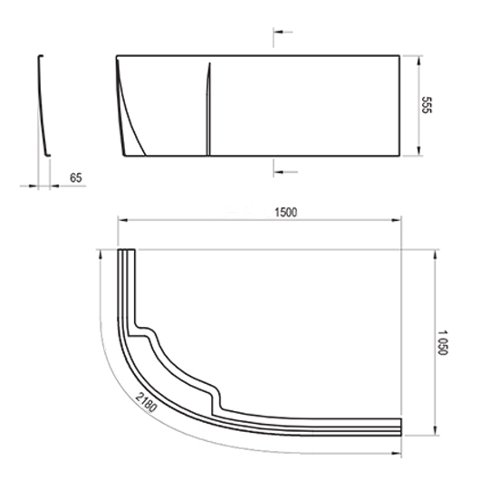 Передняя панель для ванны Ravak Rosa II R 150 CZJ1200AN0 (правая)