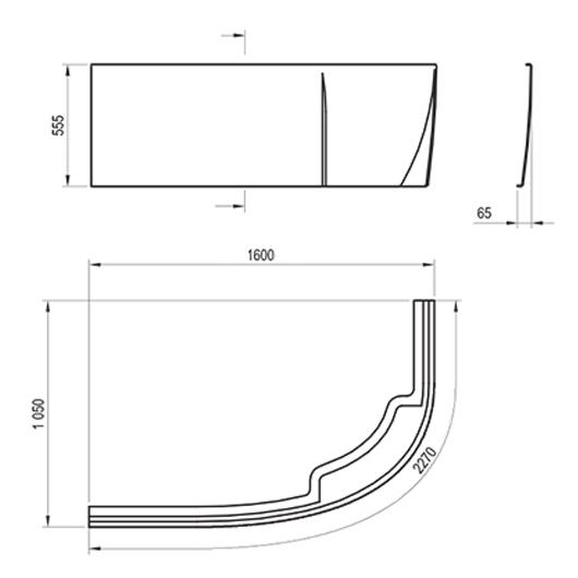 Передняя панель для ванны Ravak Rosa II L 160 CZM1200AN0 (левая)