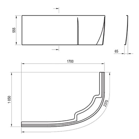 Передняя панель для ванны Ravak Rosa II L 170 CZ21200AN0 (левая)