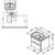 Тумба под раковину Ravak SD Chrome II 650 X000001291 (белый глянец, 590х445 мм)