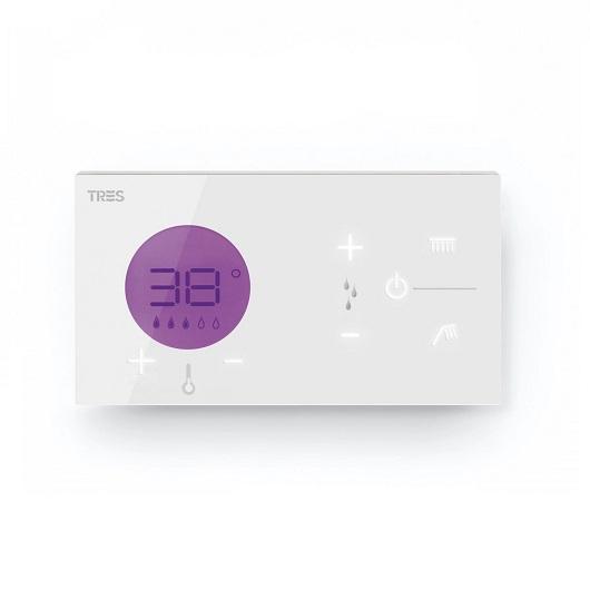 Термостат на 2 выхода TRES Shower Technology 09286299 (белый) электронное управление