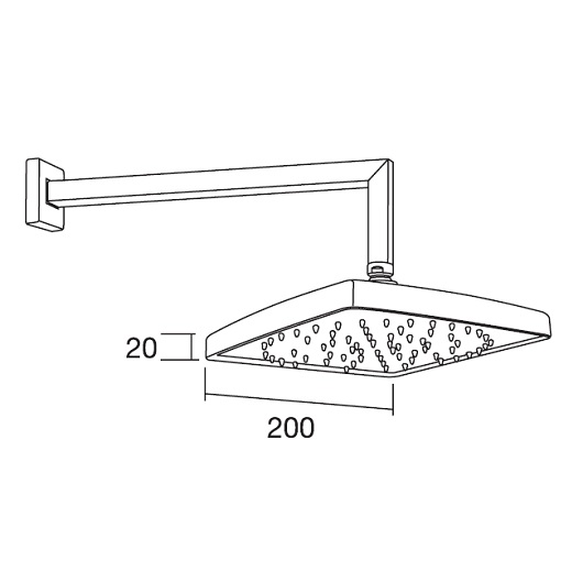 Верхний душ Margaroli Hi-tech 208/SQ (200х200 мм) хром