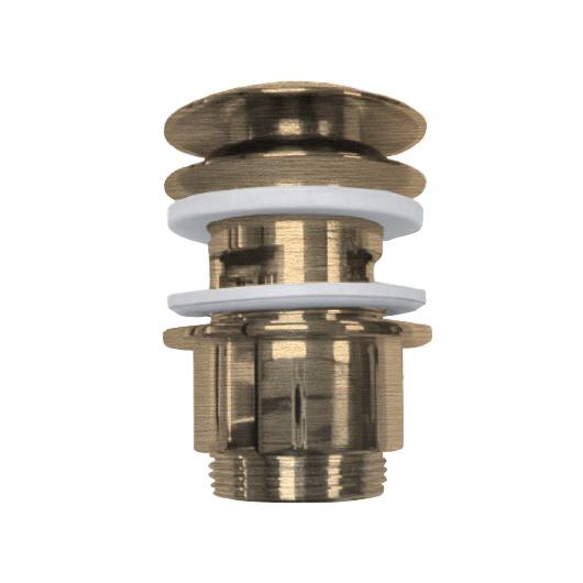 Нажимной донный клапан Margaroli Hi-tech 340/L бронза (для раковин с переливом)