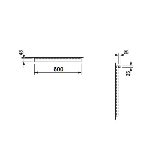 Светильник Laufen Frame25 4747.1 (4.4747.1.900.007.1, 600 мм)