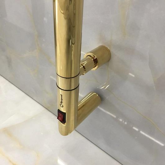 Полотенцесушитель электрический Margaroli Arcobaleno 616X/L BOX (1678 мм) золото