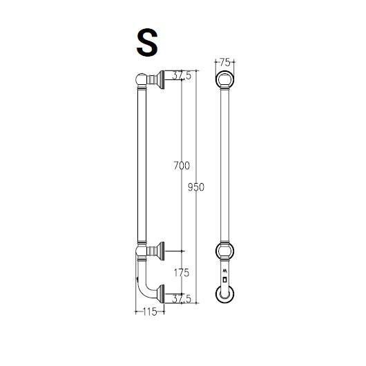 Полотенцесушитель электрический Margaroli Armonia 9-616/S BOX (950 мм) хром