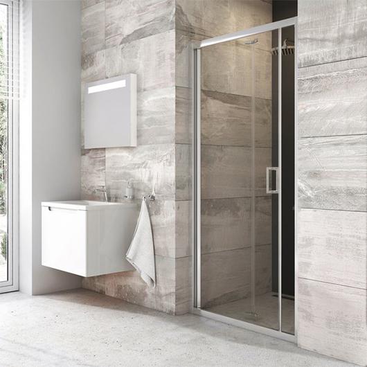 Душевая дверь Ravak Blix BLDZ2-90 X01H70C00Z1 (900х1900мм) профиль блестящий/стекло Transparent