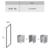 Боковая стенка Ravak Blix BLPS-100 9BHA0C00Z1 (1000х1900 мм) профиль блестящий/стекло Transparent