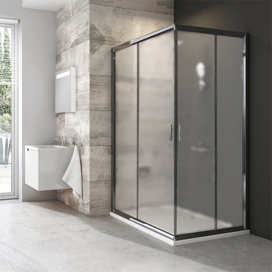 Душевая дверь для уголка Ravak Blix BLRV2K-100 1XVA0U00ZG (1000×1000х1900мм) профиль сатин/стекло Grape