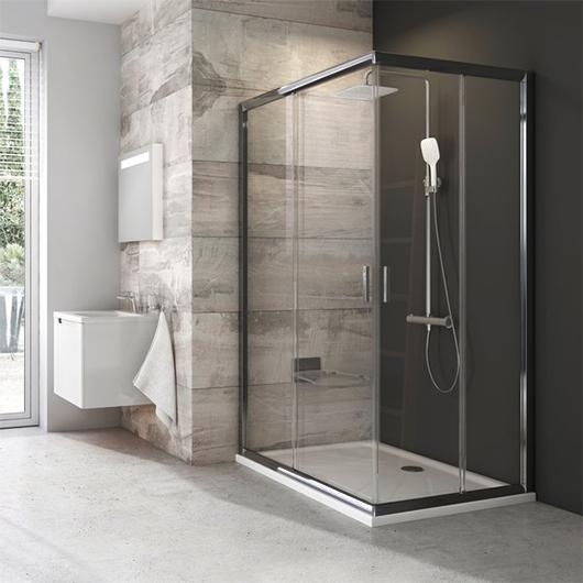 Душевая дверь для уголка Ravak Blix BLRV2K-100 1XVA0U00Z1 (1000×1000х1900мм) профиль сатин/стекло Transparent