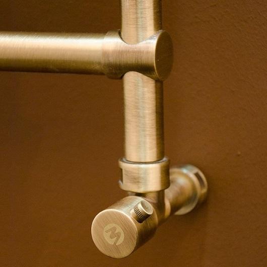 Полотенцесушитель водяной Margaroli Sole 440 (519х535 мм) бронза