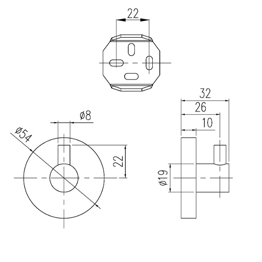 Крючок одинарный Villeroy & Boch Elements-Tender TVA15101100061