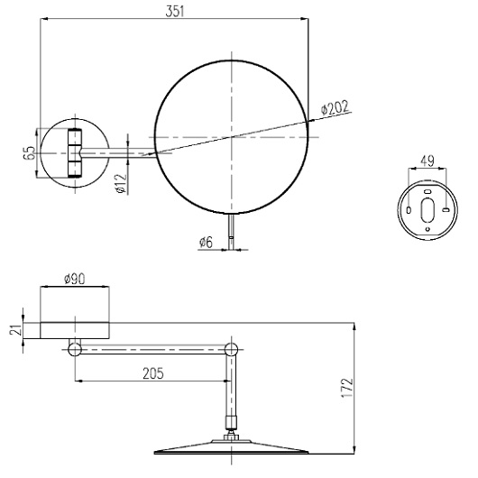 Зеркало косметическое Villeroy & Boch Elements-Tender TVA15101700061