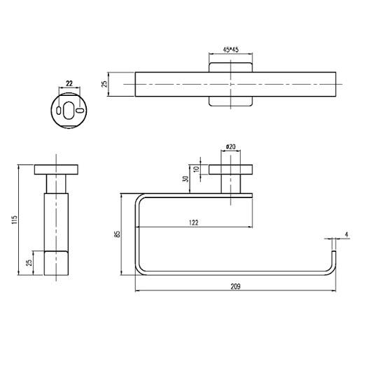 Полотенцедержатель Villeroy & Boch Elements-Striking TVA15200500061