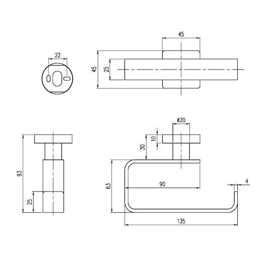 Бумагодержатель Villeroy & Boch Elements-Striking TVA15201400061