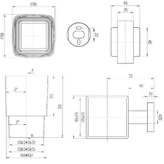Стакан настенный Villeroy & Boch Elements-Striking TVA15201900061
