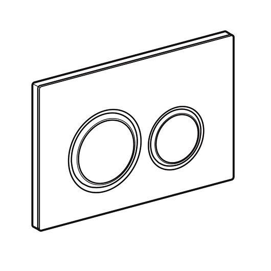 Смывная клавиша Geberit Sigma21 115.651.SJ.1 (Черное стекло)