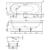 Ванна Bette Comodo 1253-000 PLUS (1700х800 мм) шумоизоляция, антигрязевое покрытие