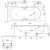 Ванна Bette Comodo 1620-000 (перелив спереди,1700х750 мм) шумоизоляция