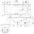 Ванна Bette Comodo 1640-000 (перелив сзади,1700х750 мм) шумоизоляция
