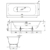Ванна Bette Lux 3440-000 PLUS (1700х750 мм) шумоизоляция, антигрязевое покрытие