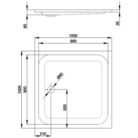 Душевой поддон Bette Supra 5620-000 (1000х1000 мм) шумоизоляция