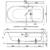 Ванна Bette Ocean 8855-000 PLUS AR (перелив спереди,1700х750 мм) шумоизоляция, антигрязевое, антискользящее покрытие