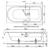 Ванна Bette Ocean 8856-000 AR (перелив сзади,1800х800 мм) шумоизоляция, антискользящее покрытие