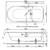 Ванна Bette Ocean 8857-000 PLUS (перелив спереди,1800х800 мм) шумоизоляция, антигрязевое покрытие