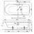 Ванна Bette Ocean 8865-000 PLUS AR (перелив спереди,1700х800 мм) шумоизоляция, антигрязевое, антискользящее покрытие