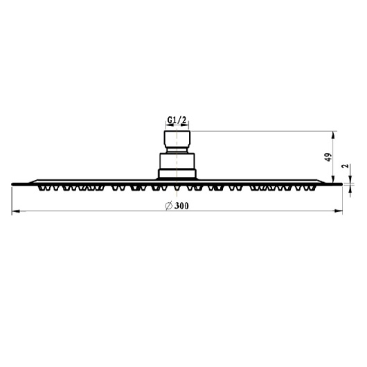 Верхний душ Villeroy & Boch Universal TVC00040130061 (300 мм)