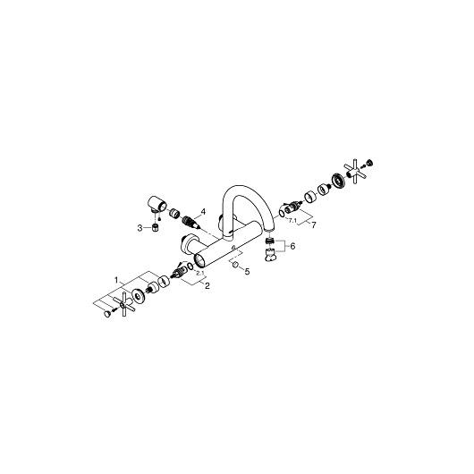 Смеситель для ванны Grohe Atrio 25010DC3 (supersteel)