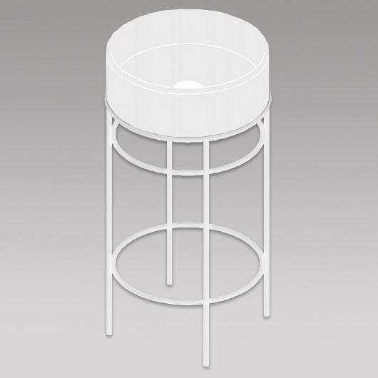 Металлическая консоль для раковины ArtCeram Vogue ACA058 05 (белая матовая)
