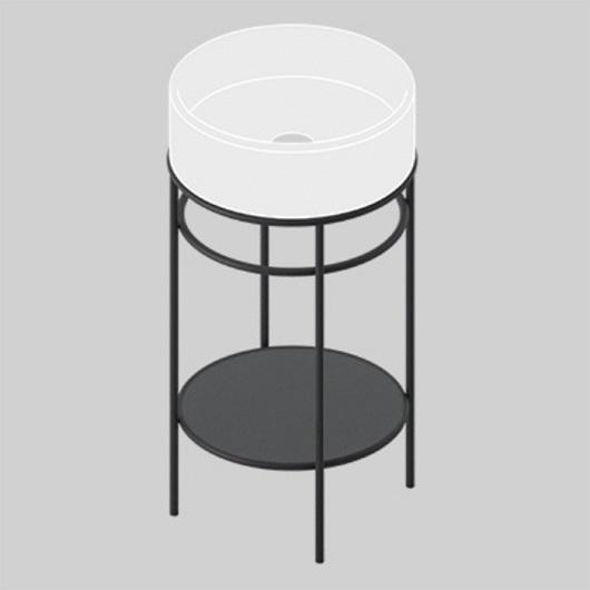 Керамическая полка для консоли ArtCeram Vogue TFC005 17 (черная матовая)