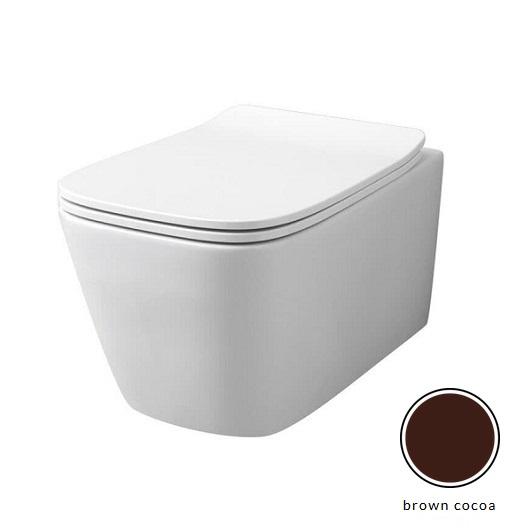 Чаша подвесного унитаза ArtCeram A16 Rimless ASV003 39 00 безободковая (Brown Cocoa Matt)