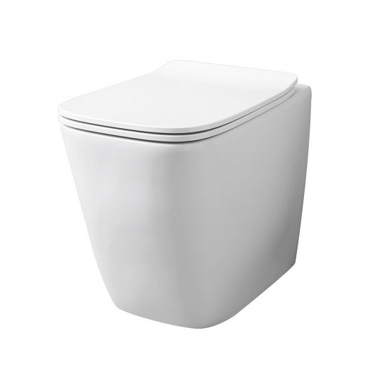 Чаша приставного унитаза ArtCeram A16 Rimless ASV004 05 00 безободковая (белая матовая)