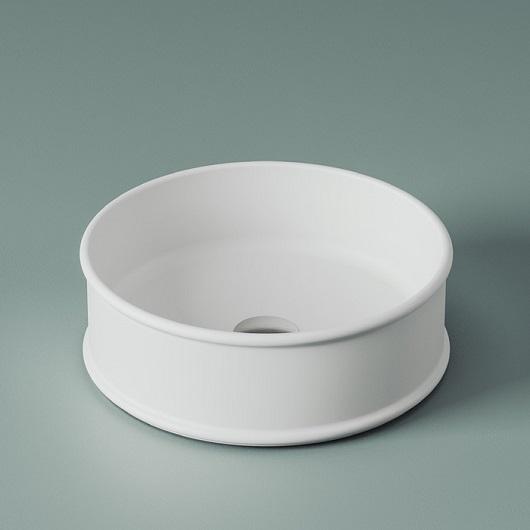 Раковина накладная ArtCeram Atelier ATL001 05 00 (Ø 440 мм) белая матовая