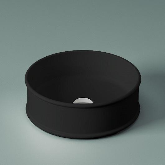 Раковина накладная ArtCeram Atelier ATL001 17 00 (Ø 440 мм) черная матовая