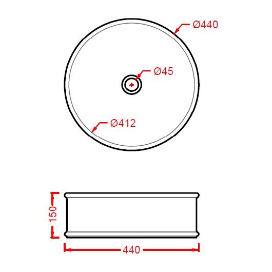 Раковина накладная ArtCeram Atelier ATL001 01 00 (440 мм) (белая)