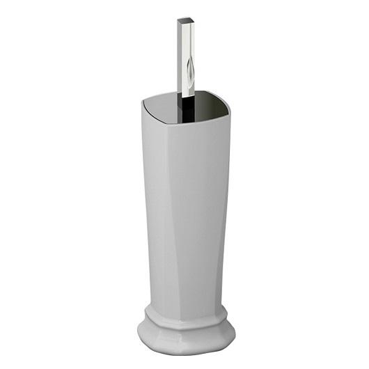 Туалетный ершик напольный ArtCeram Civitas CIC004 01 (белый/хром)
