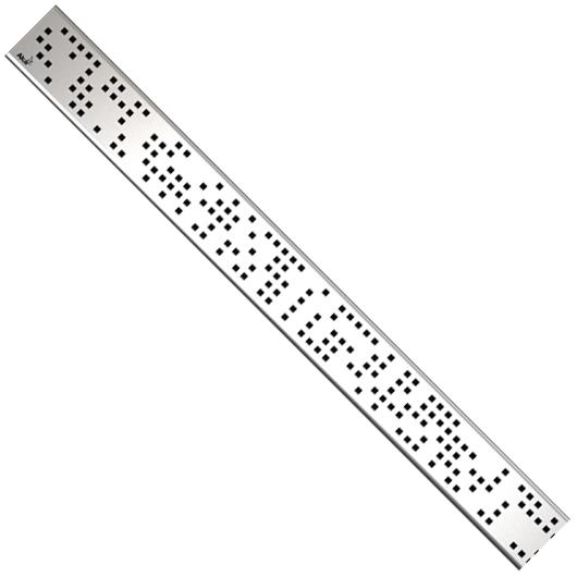 Декоративная решетка AlcaPlast CODE-850L (850 мм, глянцевый)