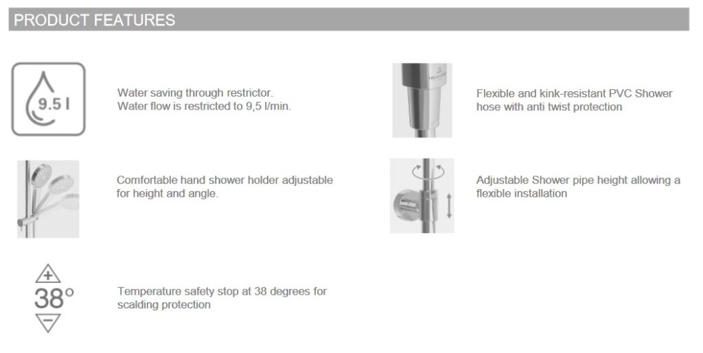 Душевая система Villeroy & Boch Universal TVS00000600061