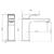 Смеситель для раковины Villeroy & Boch Architectura Square TVW12500400061 (без донного клапана)