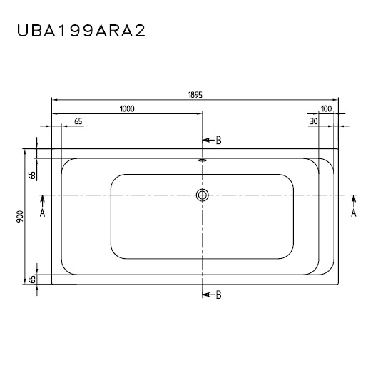 Ванна акриловая Villeroy & Boch Architectura 190х90 UBA199ARA2V-01 (белый Alpin)