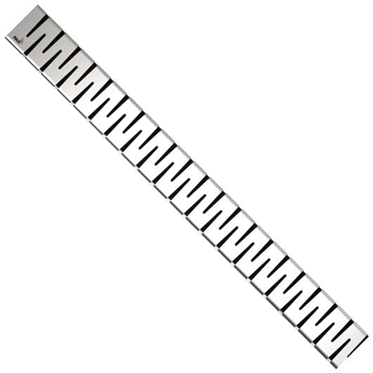 Декоративная решетка AlcaPlast ZIP-950L (950 мм, глянцевый)