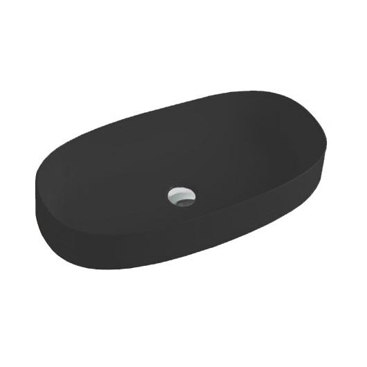 Раковина накладная ArtCeram Cognac 68 COL005 17 00 (680х350 мм) черная матовая
